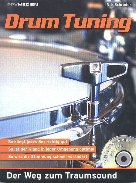 PPV Medien Drum Tuning - learn to tune drums. Includes CD. German edition.