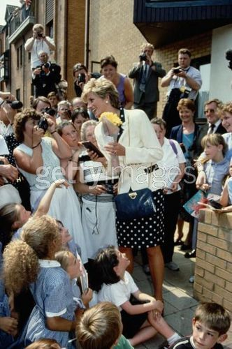 30 June 1993 Princess Diana visiting the Bruges House nursing home in Cardiff