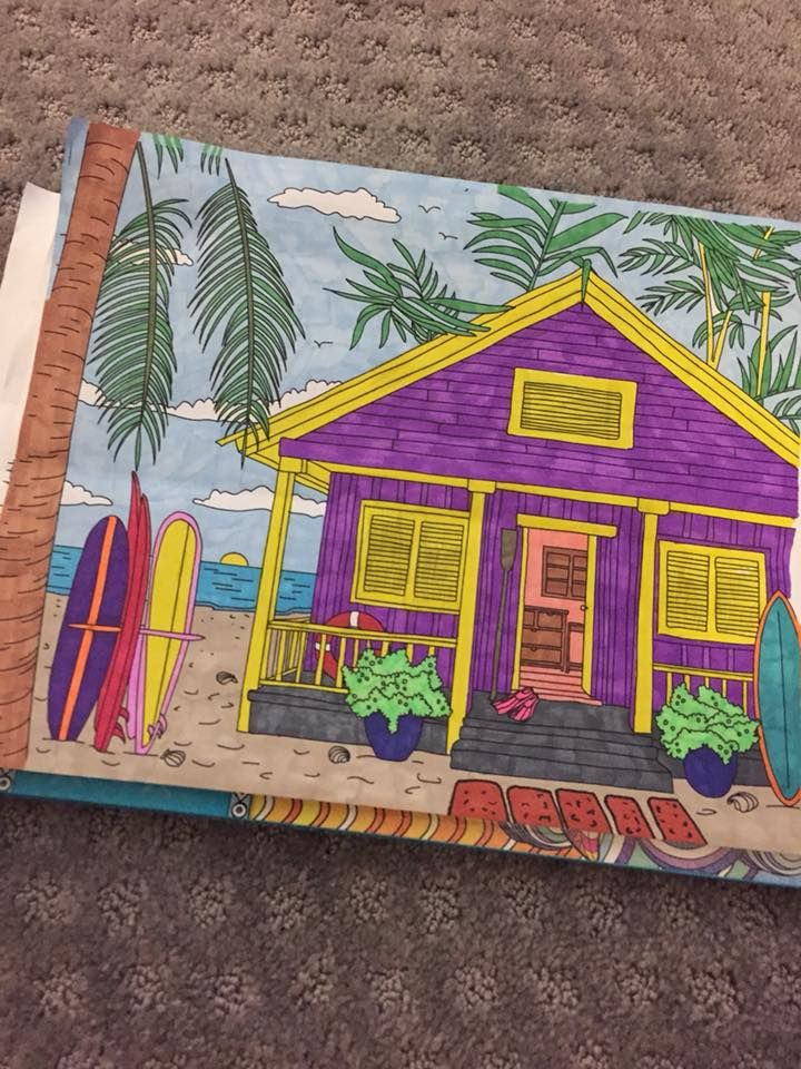 Colorful Beach House Submitted By Jessica Hopson House Colouring Pages Beach House Coloring Pages