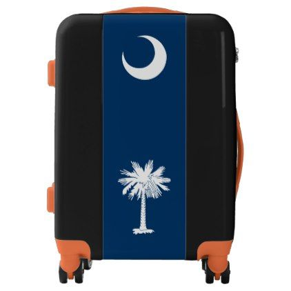 #Dynamic South Carolina State Flag Graphic on a Luggage - #custom #luggage #suitcase #suitcases #bags #trunk #trunks