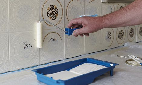 How To Paint Tiles. You can do that?! Awesome idea to renovate tiled rooms if unable to afford replacing them! :-)