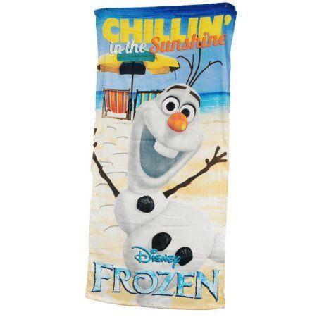 Disney Frozen Olaf Sunshine Kids Bath Beach Towel 58x28, Multicolor
