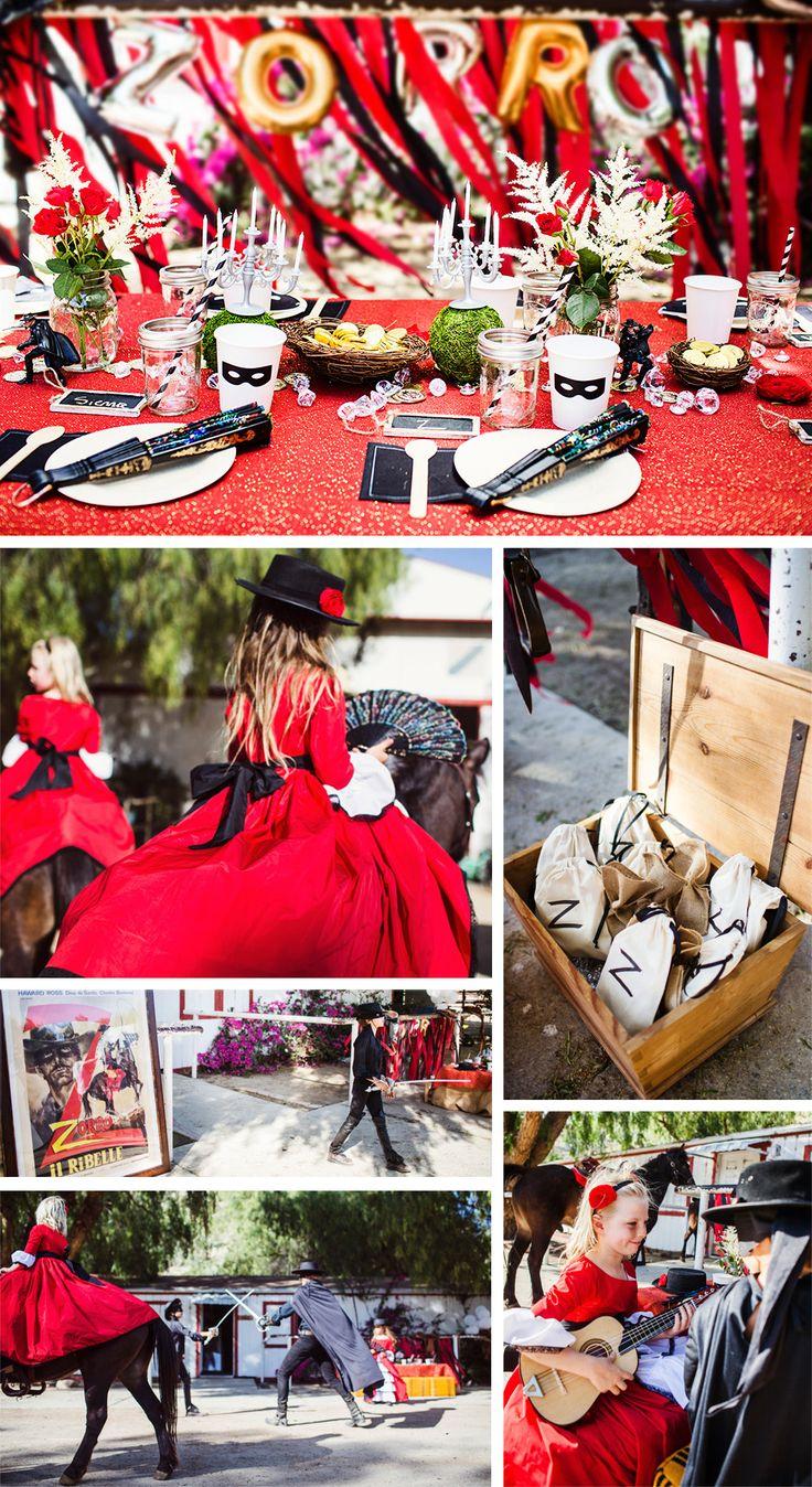 Zorro adventure fire creme kids zorro party party for Cocktail zorro