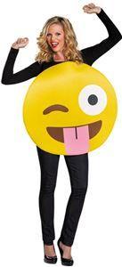 Tongue Out Emoji Adult Unisex Costume - 354587 | trendyhalloween.com #womenscostumes