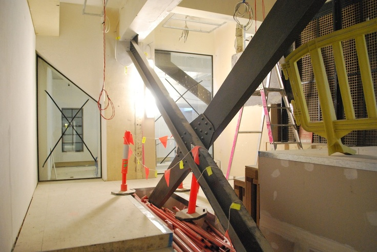 These support beams are too good to hide between walls, so we're making sure they're on display in our redesign. (Photo courtesy of Brisbane City Council) http://www.museumofbrisbane.com.au/