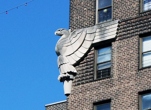 Random art deco eagles on a building in new york