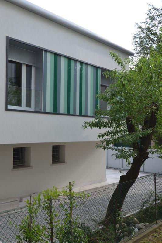#Restauri e ristrutturazioni - #Riqualificazione #abitazione unifamigliare - #Treviso: scorcio prospetto sud-ovest.