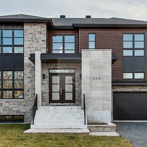 Nouvelle construction d'une résidence unifamiliale de deux étages avec sous-sol et garage intégré http://www.s-a2.com/projet/bcf_14-01-2/