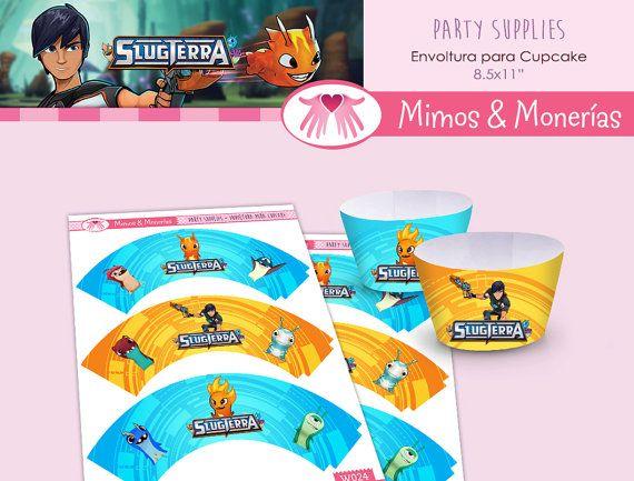 Slugterra - Bajoterra - Cupcake Wrapper - Digital Collage Sheet - Birthday Party Digitals - Printable - INSTANT DOWNLOAD