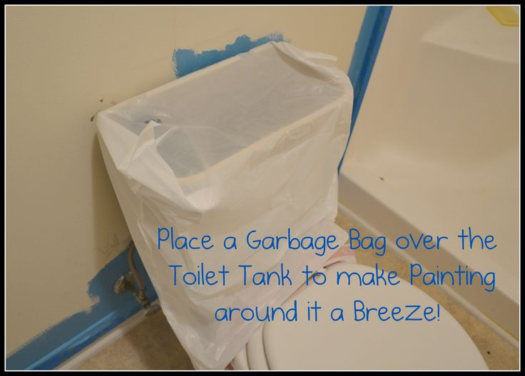 Painting Tip for Around the Toilet - Pinterest365 Now I feel really stupid for not thinking of this before! #kellyo