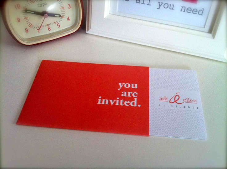 wedding invitaiton: invitation inside sleeve