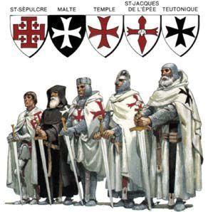 De verschillende kruisridderordes.