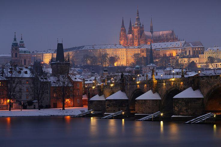 Winter Prague by Night by Michal Vitásek on 500px