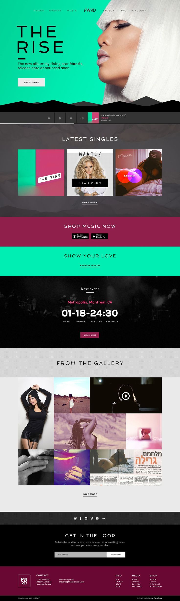 FWRD is the Ultimate Music Band & Musician #WordPress Theme. This template is perfect for #musician, dj, #music #producer or webmaster