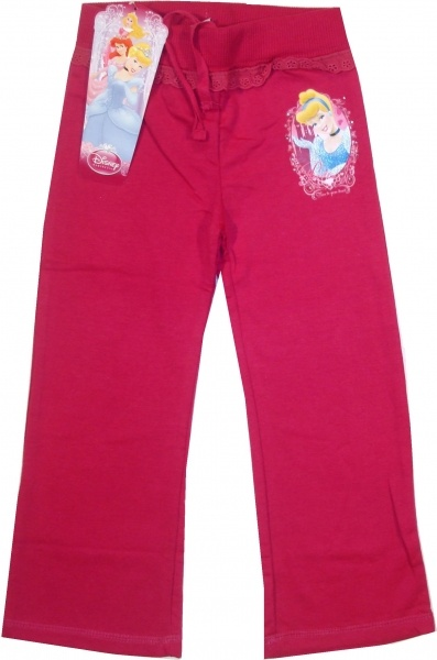Pantalon oficial Disney Princes cu Cinderella, 50% bumbac, 50% poliester.