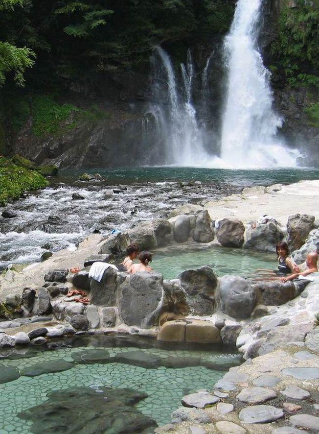 Hot springs and waterfalls in Izu Peninsula, Honshu, Japan