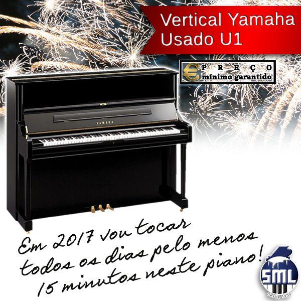 O piano pode comprar aqui: http://www.salaomusical.com/pt/pianos-verticais-usados/405-piano-vertical-yamaha-u1-usado-preto-polido-3-pedais.html Vai ver que vai cumprir e exceder a sua resolução!