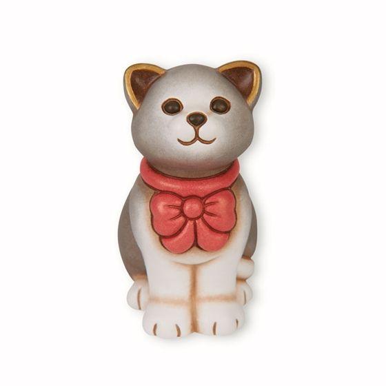 Gatto con fiocco rosso - Thun