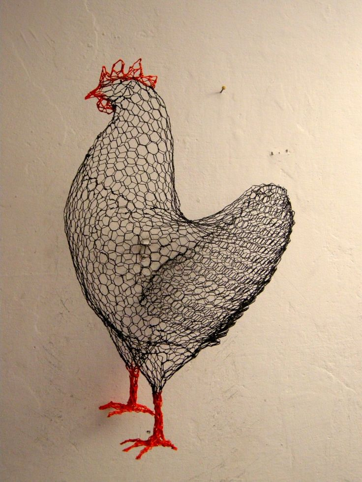 chicken wire sculpture by benedetta mori ubaldini art