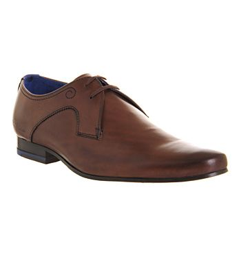 Ted Baker Martt Plain Lace Brown Leather - Smart