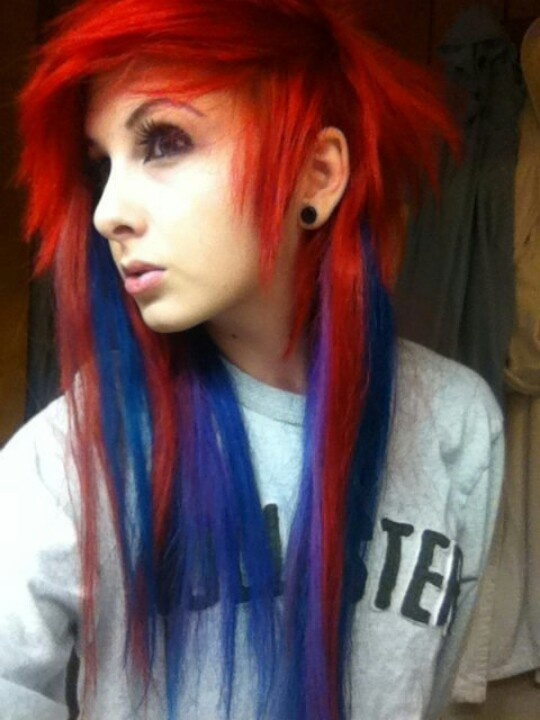 17 Best Images About Red And Blue Hair On Pinterest
