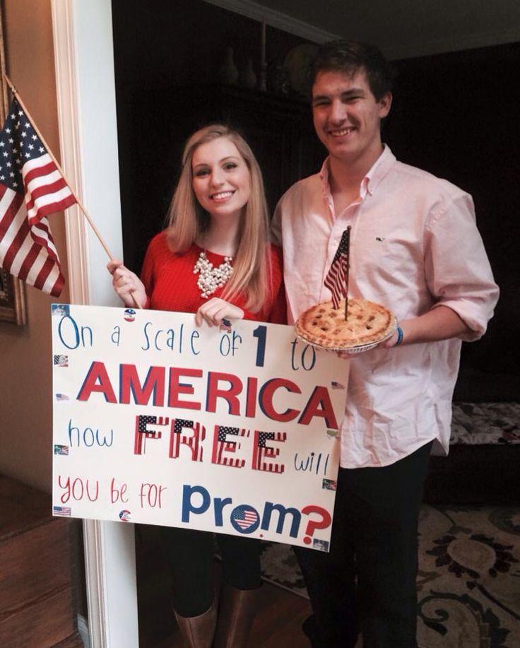 American / 'Merica Patriotic preppy prom promposal