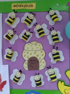 Bee bulletin board idea for kids | Crafts and Worksheets for Preschool,Toddler and Kindergarten