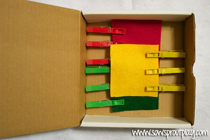 Clothespins and Felt Color Matching Busy Box