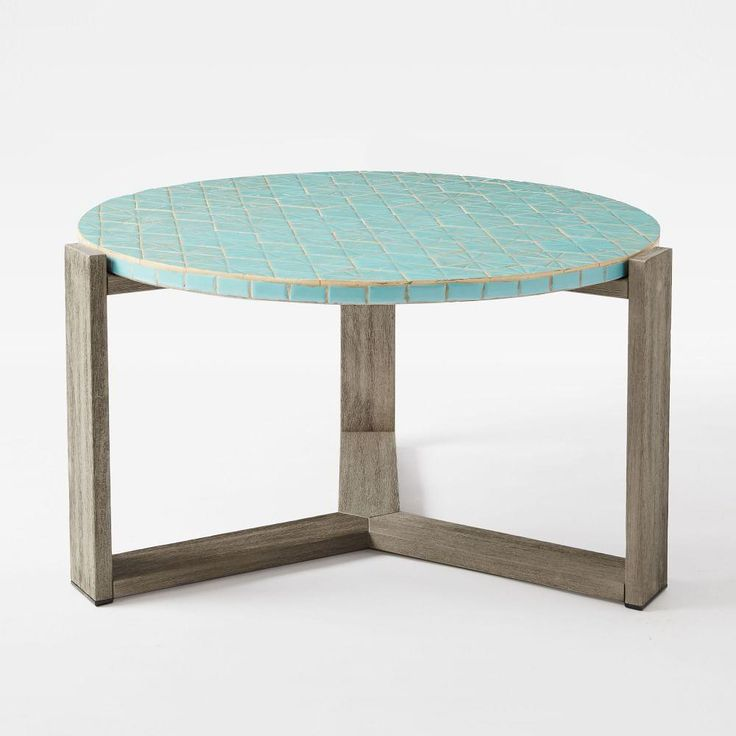 Mosaic Coffee Table - Blue Spider Web