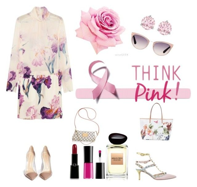 """Think pink!"" by lupik on Polyvore featuring мода, Gianvito Rossi, Etro, Valentino, Tom Ford, Swarovski, Nina Ricci и Giorgio Armani"