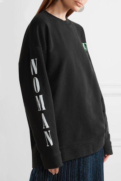 Off-White - Psycho Printed Cotton-jersey Sweatshirt - Black - x small