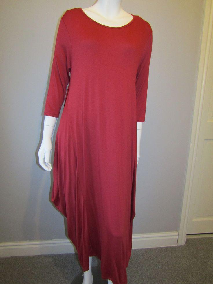 Lagenlook dress 753 red