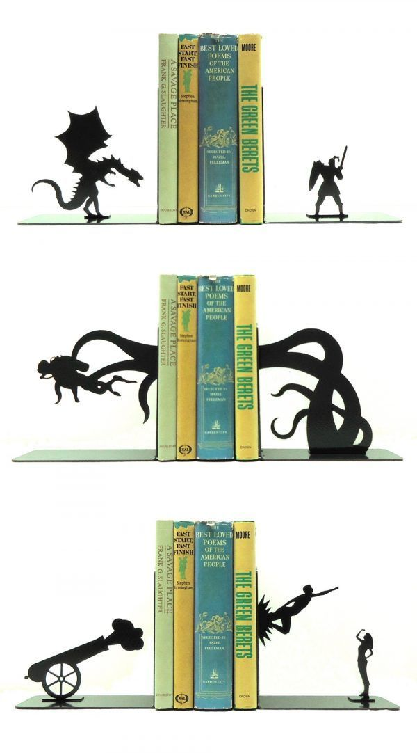 50 Unique Bookends For Book Lovers Unique Bookends Bookends Modern Bookends