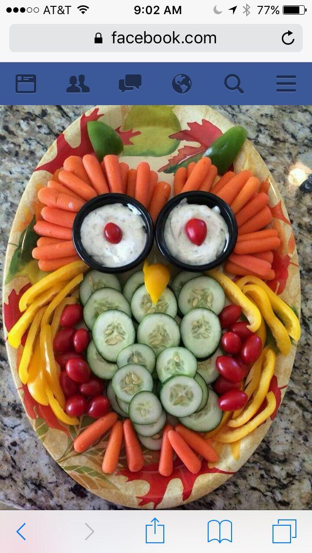 Owl Veggie Dip Party FoodBunco