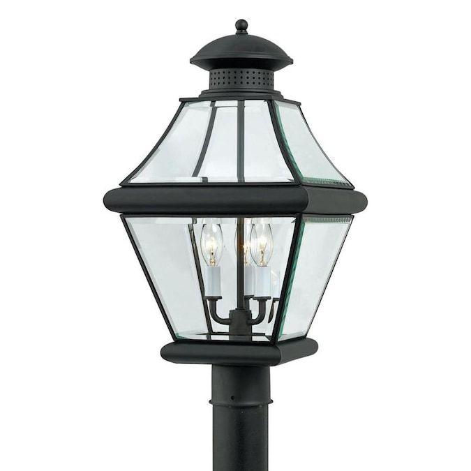 Quoizel Rutledge 60 Watt 20 5 In Mystic Black Transitional Post Light Lowes Com In 2020 Outdoor Post Lights Post Lights Lantern Post
