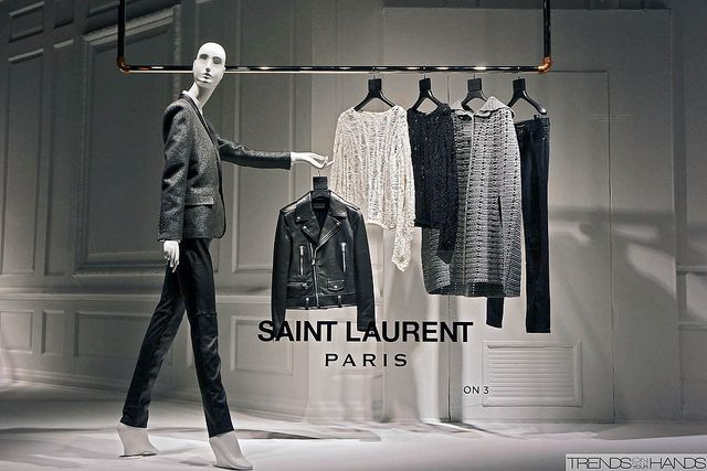 i will try this one on | Saint Laurant window display