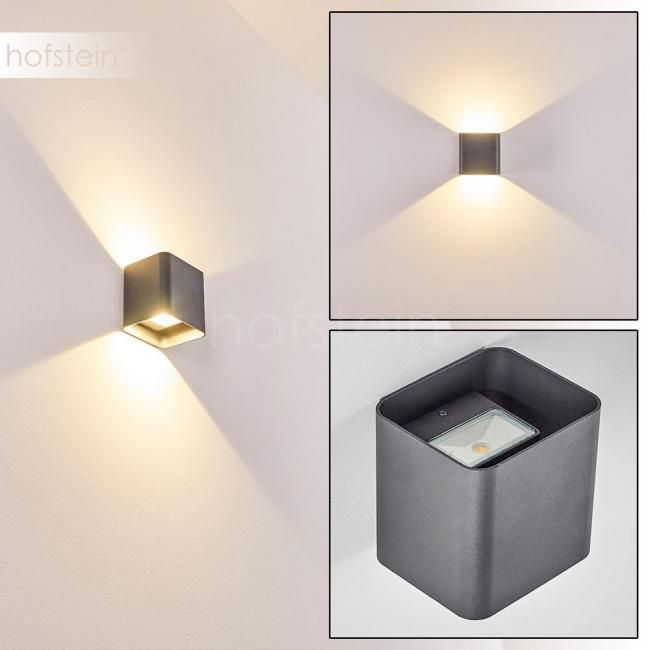 Design LED Up Down Aussen Wand Leuchten Edelstahl Veranda Terrassen Hof Lampen