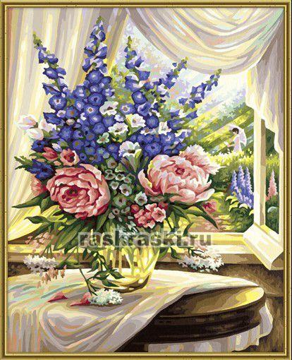 Раскраска по номерам Schipper Цветы на столе (40 x 50 см)