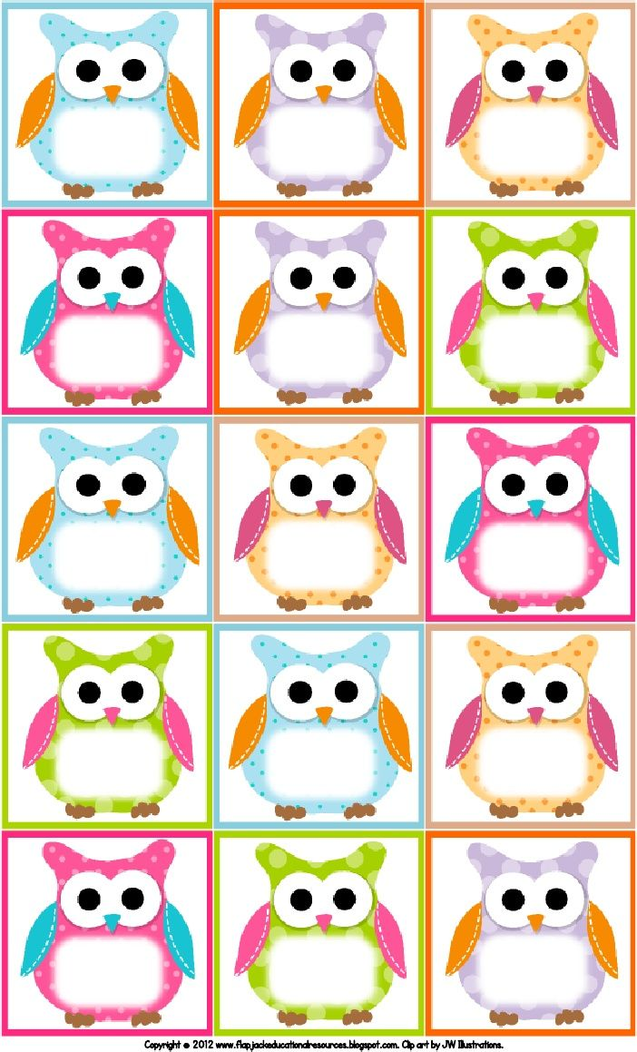 Free Printable Owl Labels