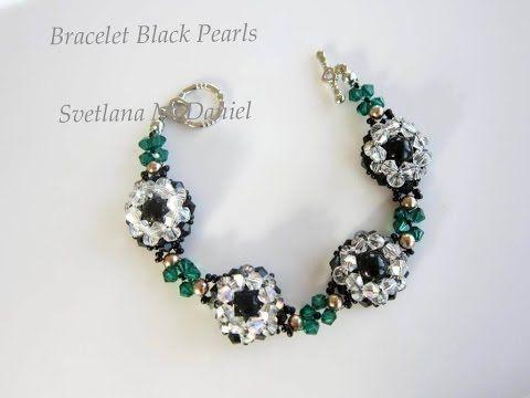 Beaded Bracelet Black Pearls. Браслет Черный Жемчуг - YouTube