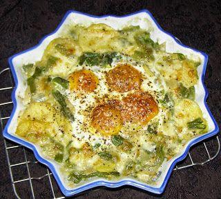 W Mojej Kuchni Lubię.. : z mikrofali ziemniaki z mozarellą i jajkami...