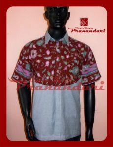 Kemeja Kombinasi Batik Cirebon