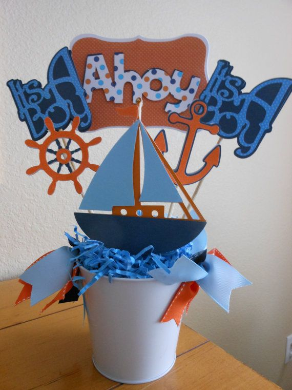 Nautical Theme Ahoy its a Boy Baby Shower by ASweetCelebration, $199.00
