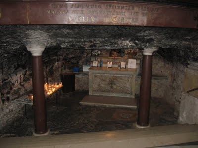 The Grotto of Elijah, Mount Carmel, Israel