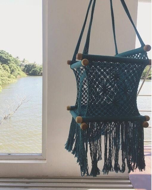 Macrame Baby Swing / Boho Nursery or Childs Room Decor / Bohemian Handmade Kids Chair Swing Seat