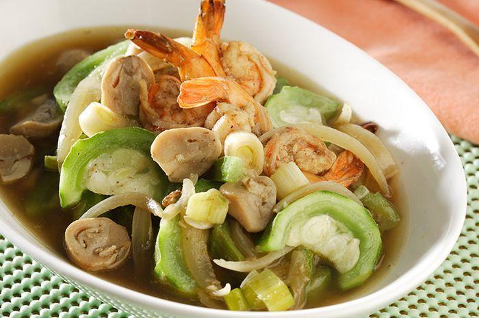 Resep Membuat Tumis Oyong Udang Jamur Ini Bisa Menggambarkan Kenikmatan Olahan Sayur Dan Seafood Dalam Satu Piring Yang Manjakan Li Resep Masakan Resep Masakan