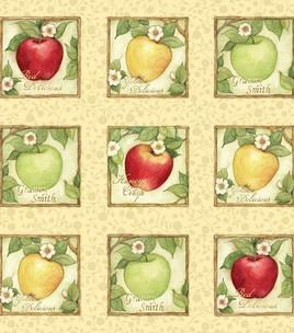 Susan Winget Quilt Fabric- Apple Orchard Apple Block: fabric: Shop | Joann.com