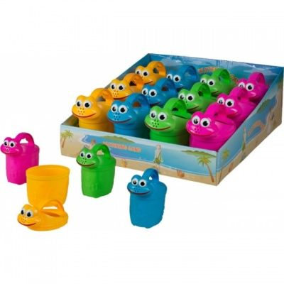 farbige Giesskanne für Kinder mit Gesicht