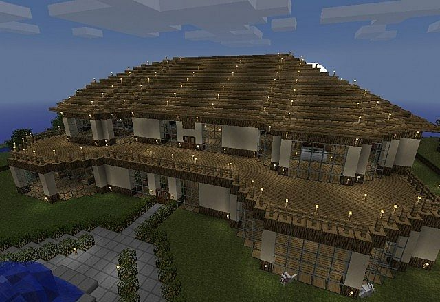 25 best ideas about minecraft mansion on pinterest for Big amazing houses