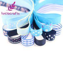 Lucia artesanías Opción Múltiple Impresa Grosgrain/Cintas de Satén de DIY De Coser Accesorios Hairbows de la Cinta de Embalaje de Regalo de Navidad 040054240(China)